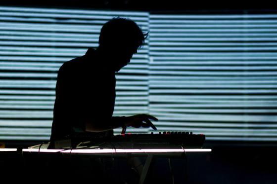 Pierres spins his evocative tunes at Le Trabendo, Paris - photo by Ben Levy